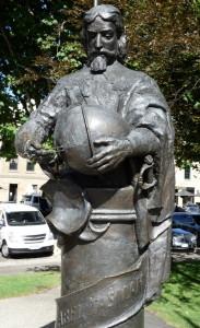 Der Namenspatron: Abel Tasman als Denkmal im Salamanca Park.