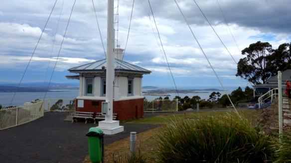 Die Signalstation auf dem Mount Nelson. Wenn Besuch kam, wurde er von hier zuerst begrüßt.